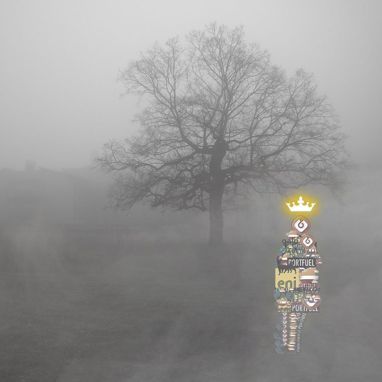Oil and gas companies logo golem emerging from the fog.