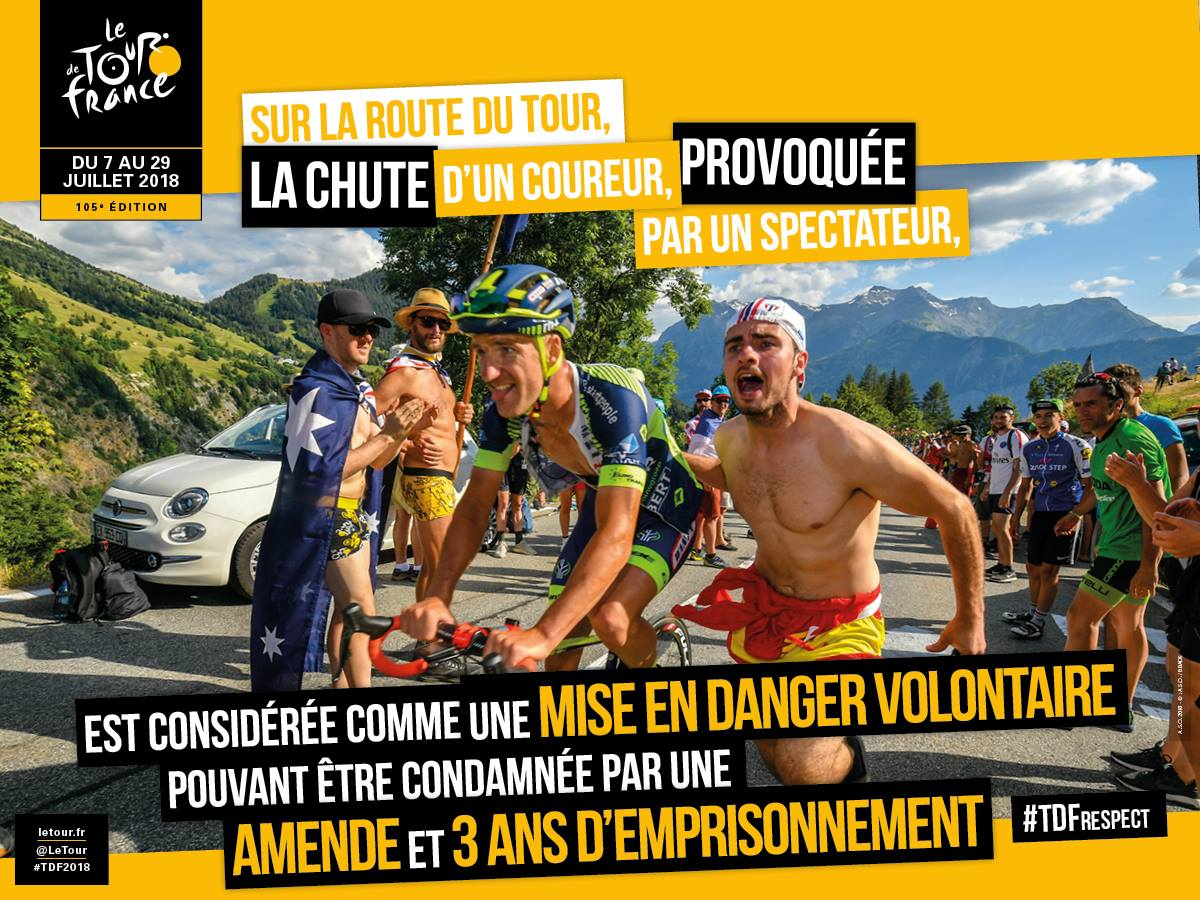 The Tour de France image threatning 3 years in prison.