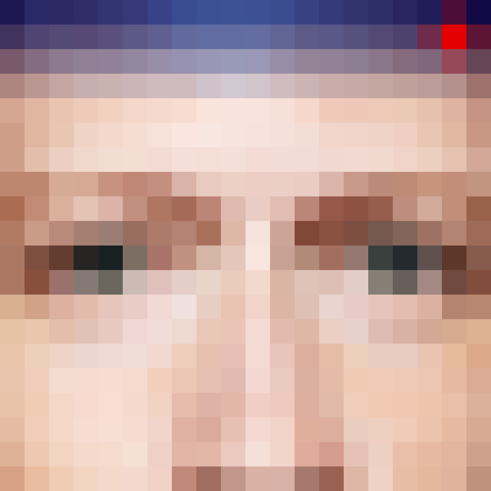 Pixelated image of Mark Zuckerberg's eyes.