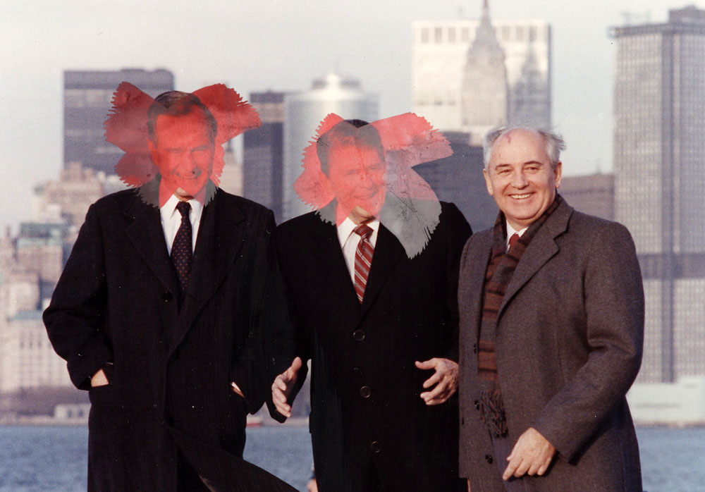 Bush, Reagan and Gorbachev in New York.