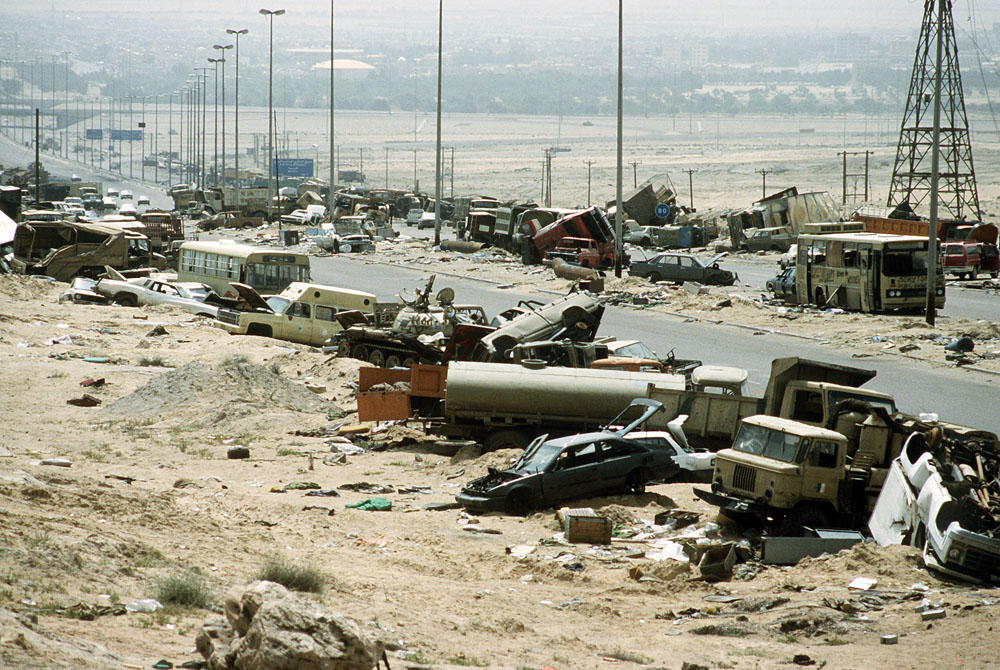 """Death road"" in Iraq."