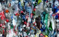 Compress used plastic bottles.